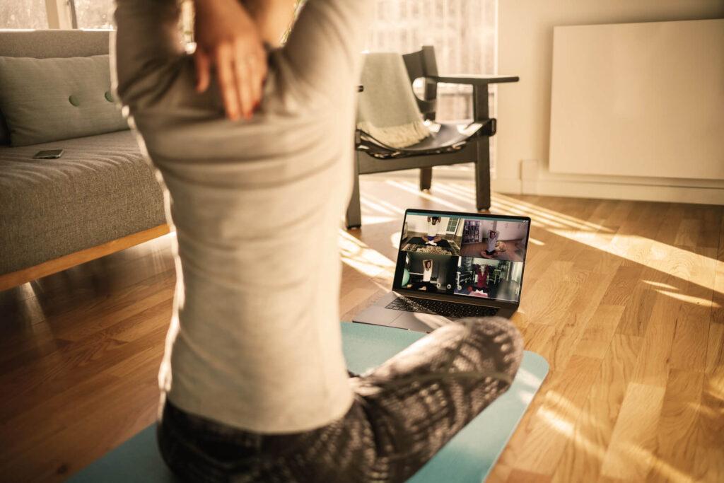 Yoga online mit Zoom