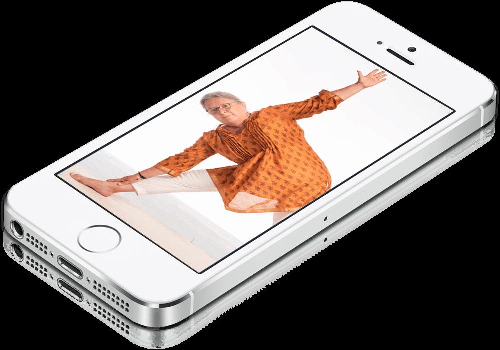 Online Yoga auch mit dem Smartphone